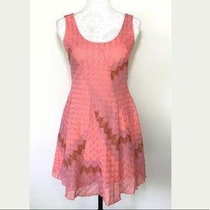Free People Women's XS crochet knit pink dress